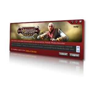 Dungeons & Dragons Online Download Manager User Interface
